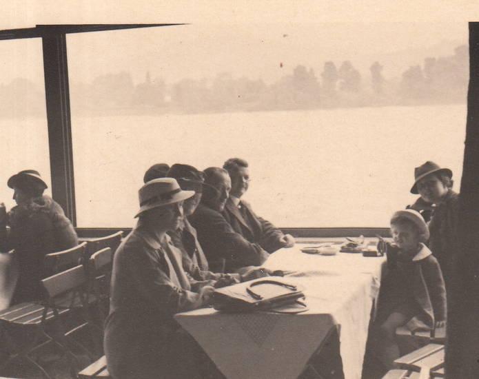 bordrestaurant, fluss, hut, Rhein, schiff, Schifffahrt