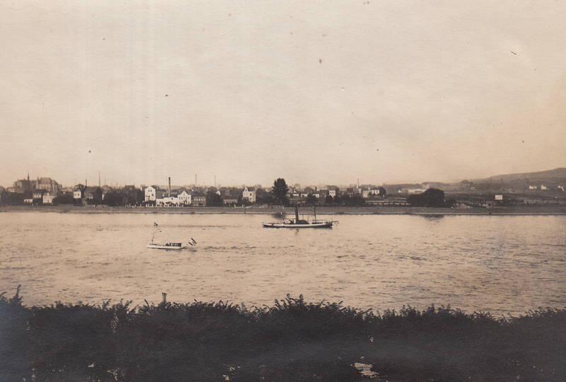 fluss, Rhein, Rheinufer, schiff