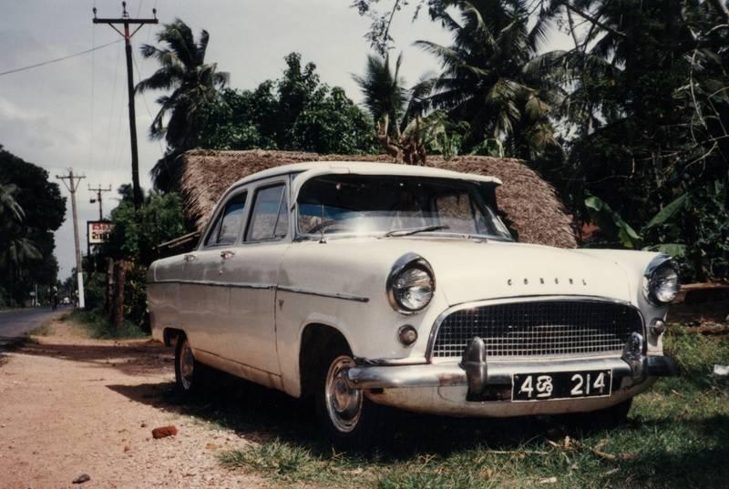 auto, ceylon, Consul, ford, KFZ, leihwagen, Palmen, PKW, Sri Lanka