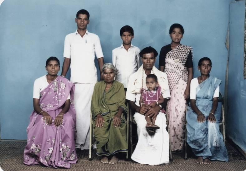 Bauern, familie, indien, Photograph