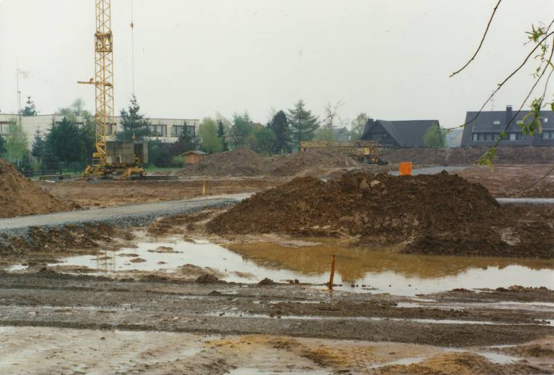 Bau, Baugebiet, Baustelle, frühjahr, Frühling, meerbusch, Strümp