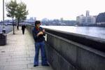 Zigarettenpause in London