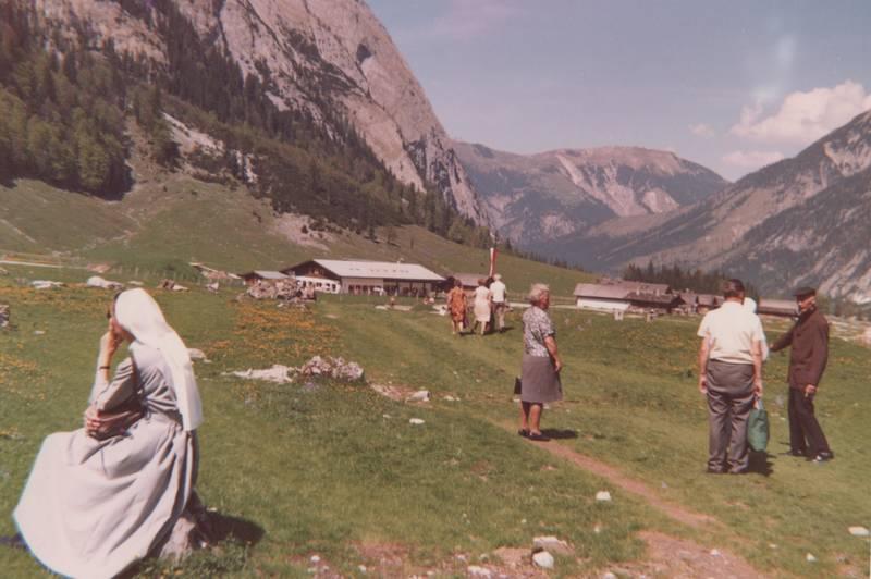 Berge, nonne, ordensschwester, urlaub, Urlaubsreise