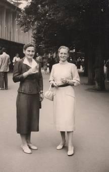 Zwei Frauen in Bad Mergentheim