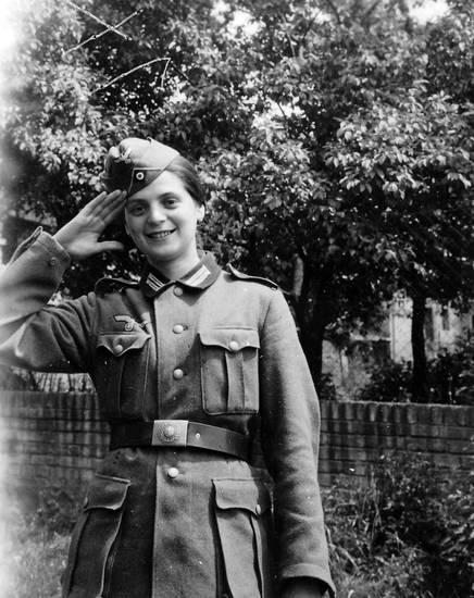 Frauenbild, salutieren, soldat, Uniform, Wehrmacht