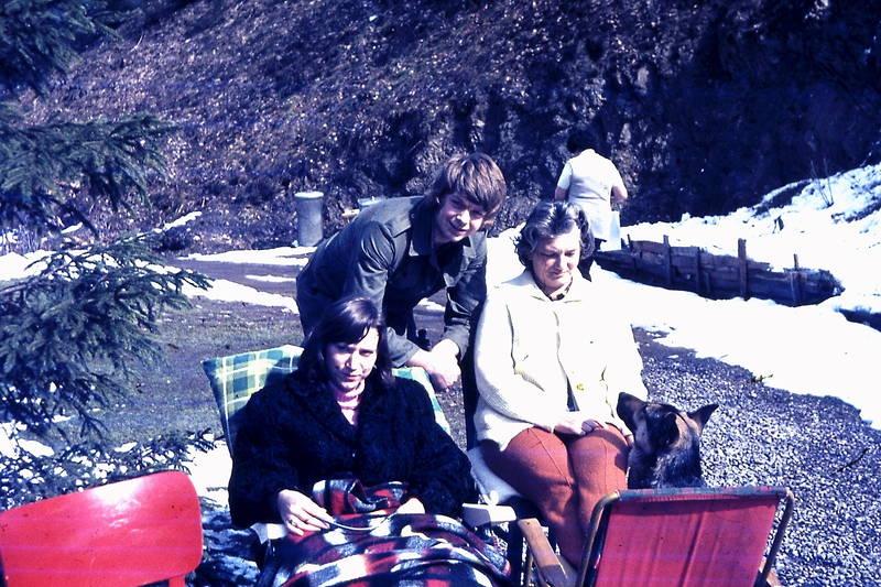 camping, Campingplatz, campingstuhl, Decke, hund, Liegestuhl, Schäferhund, schnee, Sonne, urlaub, winter