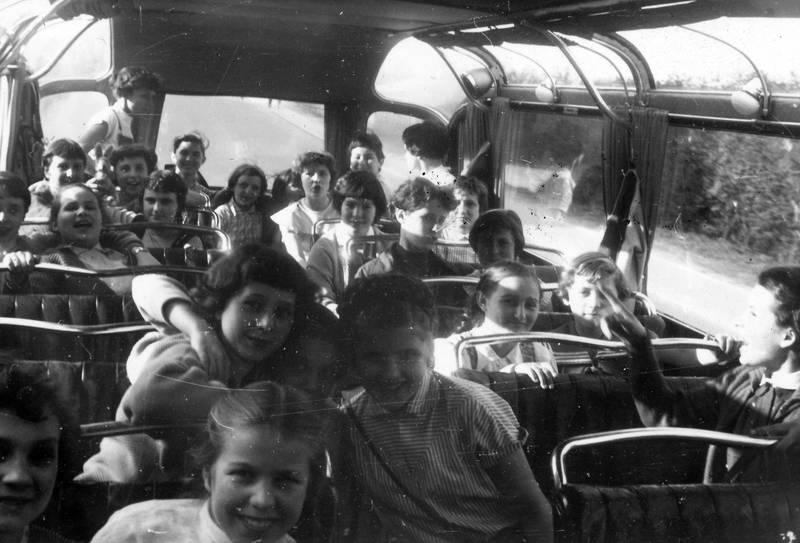 bus, busfahrt, freundschaft, Kindheit, Klassenfahrt, lachen, stofftier