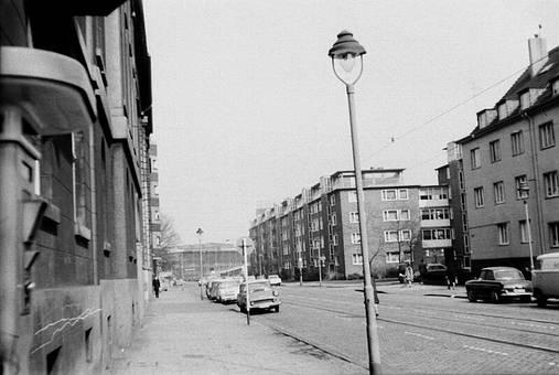 Lichtstraße in Düsseldorf