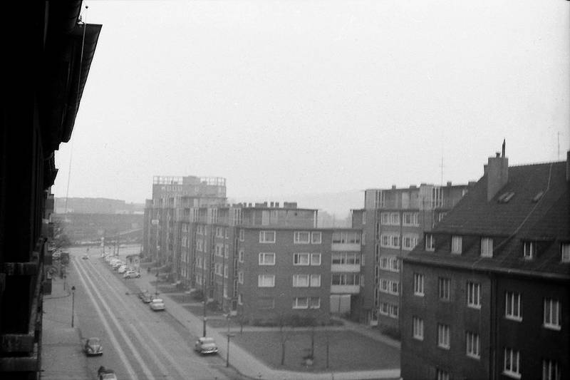 Düsseldorf, gebäude, haus, Lichtstraße, straße