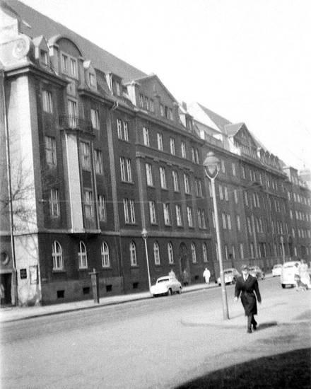Düsseldorf, gebäude, haus, Laterne, Lichtstraße, straße