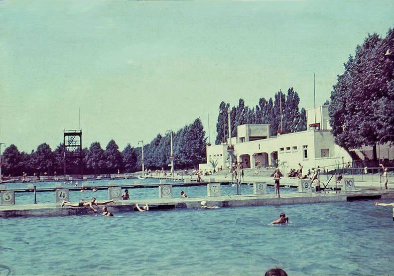 freibad, halberstadt, schwimmbad, Schwimmbecken, Sommer, startblock