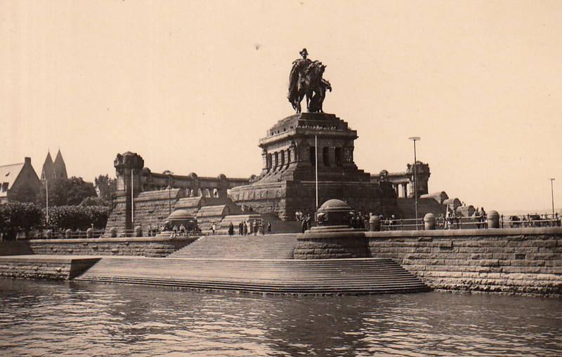 Deutsches Eck, Koblenz, Reiter, Reiterstatue
