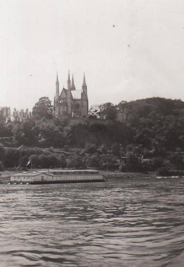 Apollinariskirche, fluss, Remagen, Rhein, schiff