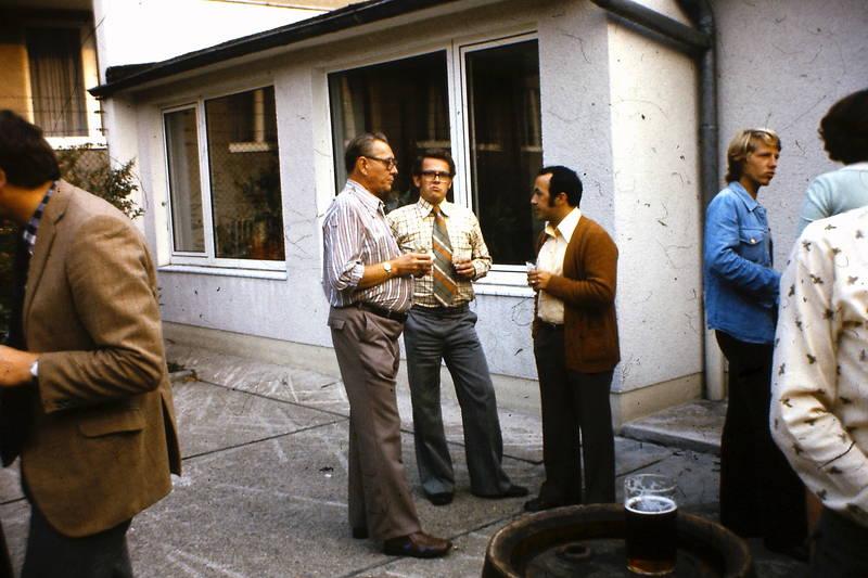 Gespräch, Grillfest, kollegen, Krawatte