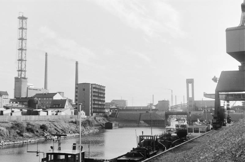 boot, Duisburg, gebäude, Hafen, Innenhafen, innenhafen duisburg, schiff