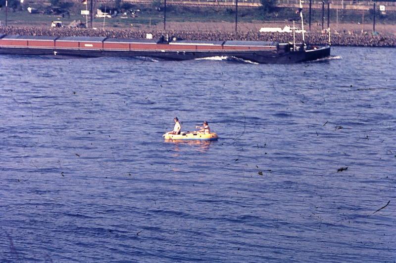 fluss, Rhein, schlauchboot