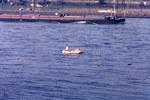 Schlauchboot auf dem Rhein