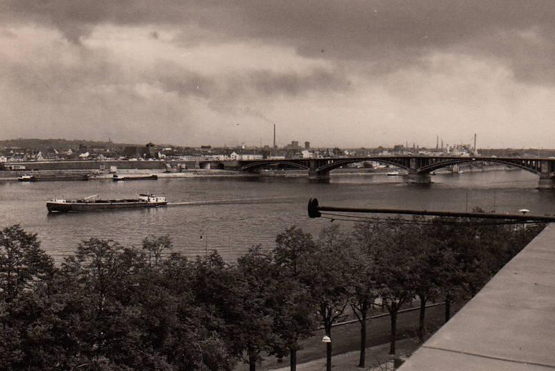 industrie, mainz, Mainz-Kastel, Rhein, Rheinbrücke, schiff, Theodor-Heuss-Brücke