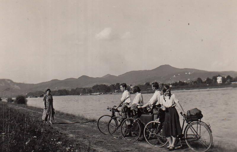 ausflug, fahrrad, schiff, Siebengebirge
