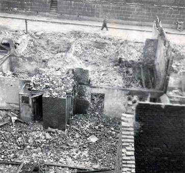 Ein Haus in Trümmern
