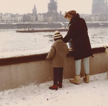 Eisschollen am Rhein