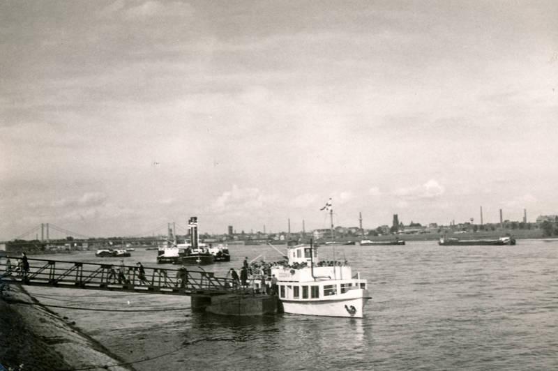 Ausflugsschiff, köln, mülheimer brücke, passagiere, Rhein, schiff
