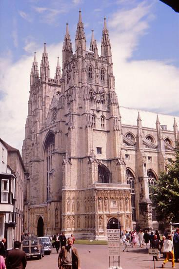 auto, canterbury, england, Kathedrale, KFZ, kirche, PKW, Sommer