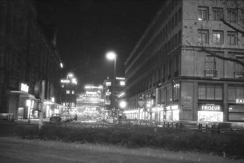 1965, Düsseldorf, innenstadt, königsallee, straße