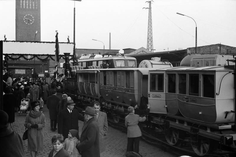 1963, Adler, ausstellung, Düsseldorf Hbf, Eisenbahn, erkrath, Lokomotvie, nachbau