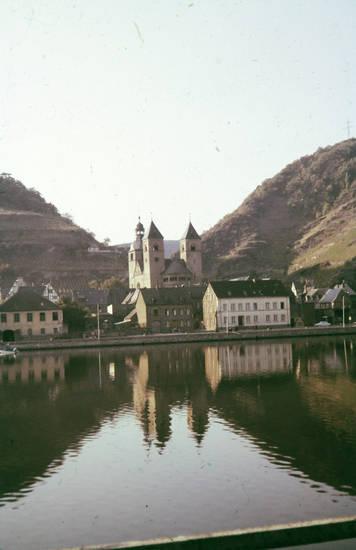 carden, Castor-Kirche, fluss, karden, kirche, Mosel, treis-karden
