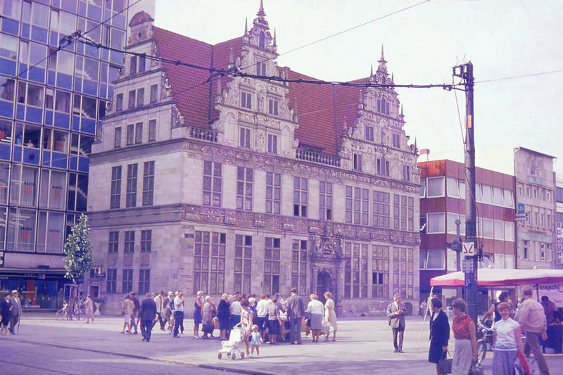 1967, Bremen, innenstadt, Weserrenaissance