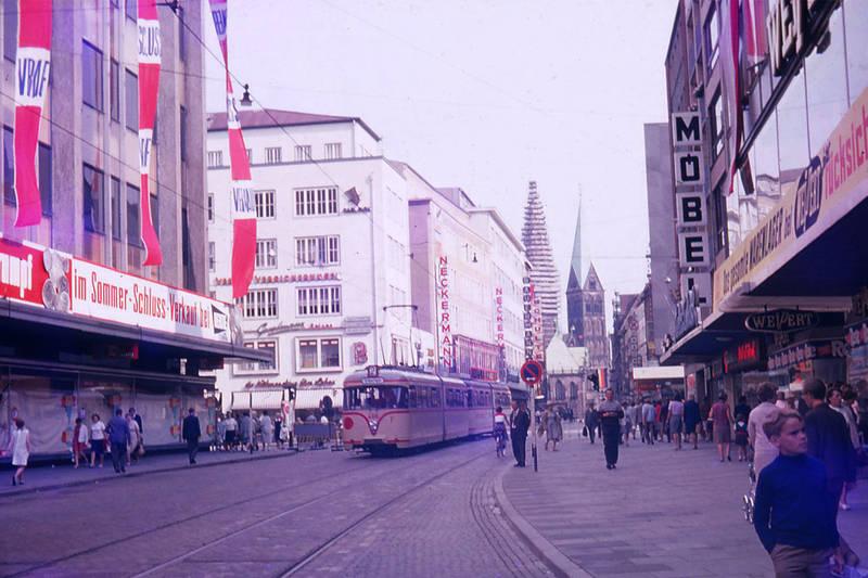 Bremen, Hansestadt Bremen, innenstadt, Möbel, neckermann, Sommerschlussverkauf, Straßenbahn
