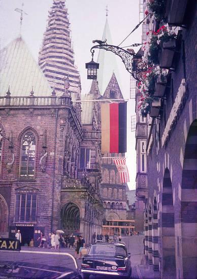 1967, Bremen, dom, innenstadt, kirche, markt