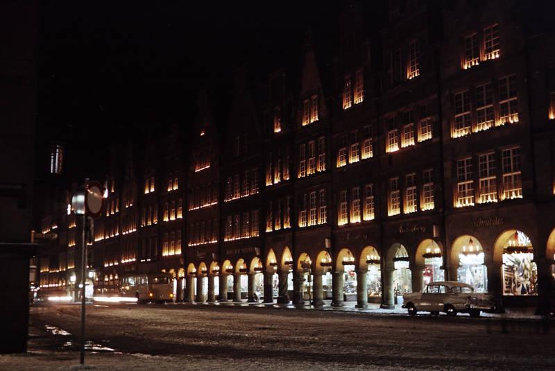 auto, KFZ, münster, nacht, PKW, Prinzipalmarkt, schnee, winter