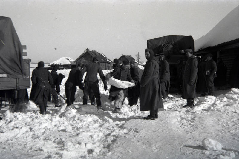 LKW, ostfront, räumen, schnee, Wehrmacht, winter