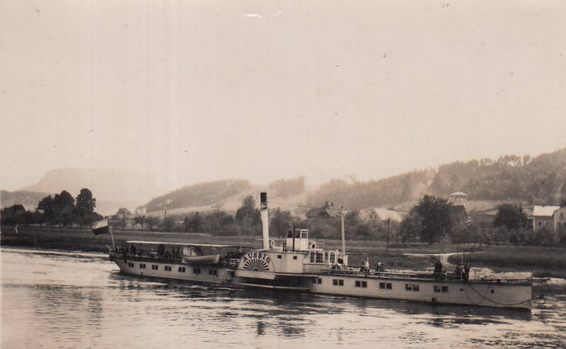 Aussig, dampfer, Elbe, Raddampfer, schiff