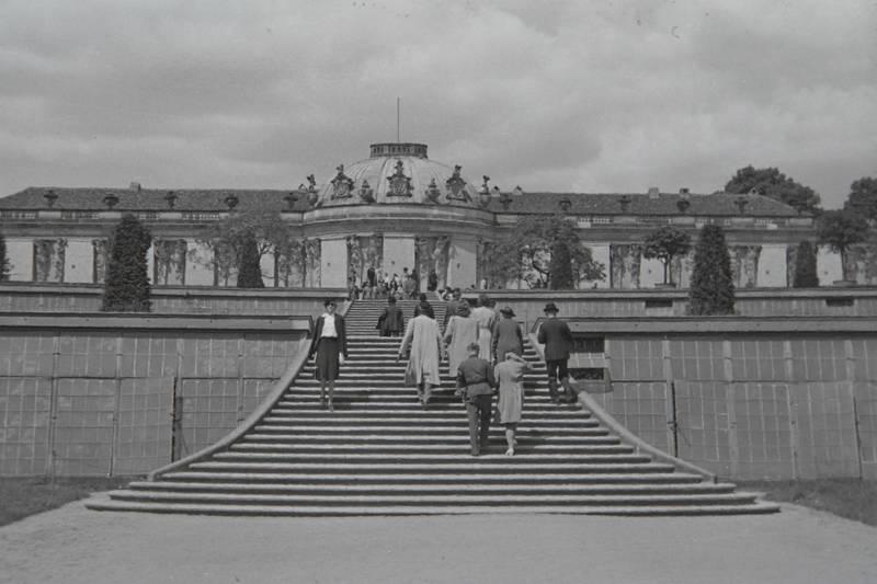 Besucher, Potsdam, sanssouci, Treppe