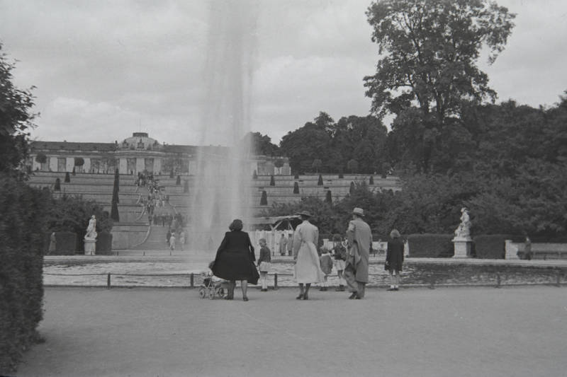freizeit, park, sanssouci, Schloss sanssouci, Springbrunnen