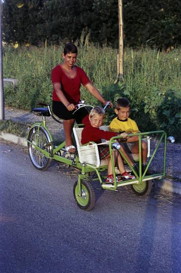 ausflug, fahrrad, Kindheit, Mutter, Spaß