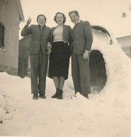 jugend, mode, schnee, Schneehaus, winter