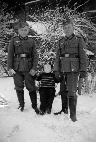 Kindheit, schnee, soldat, Uniform, winter