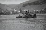 Arbeiten auf dem Rhein
