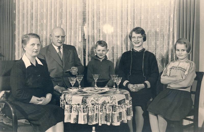 familie, familienfoto, Glas, Keks, Keksteller, Kindheit, wohnzimmer