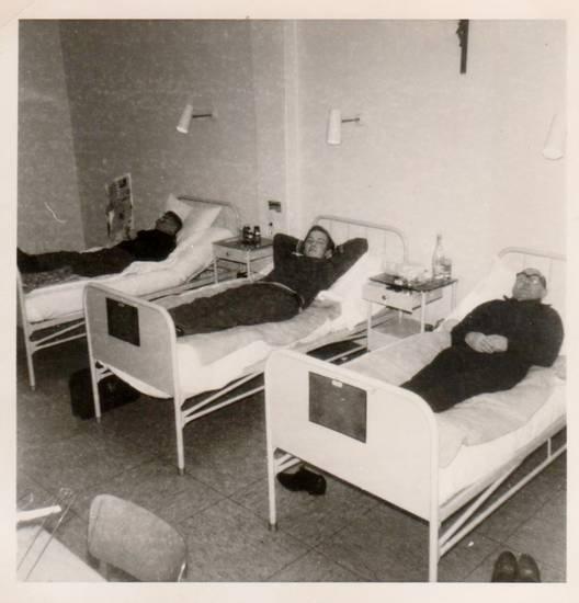 bett, krankenhaus, Kreuz, Kruzifix, patient, sanatorium