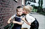 Kuss auf die Wange