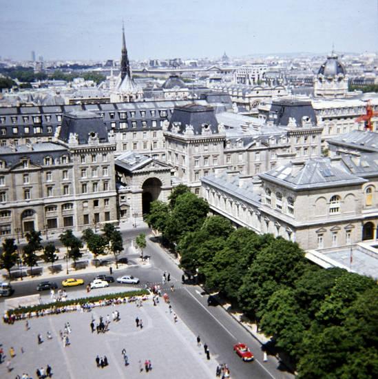 Ausblick, auto, KFZ, Notre Dame, Notre-Dame, PKW, saint chapelle