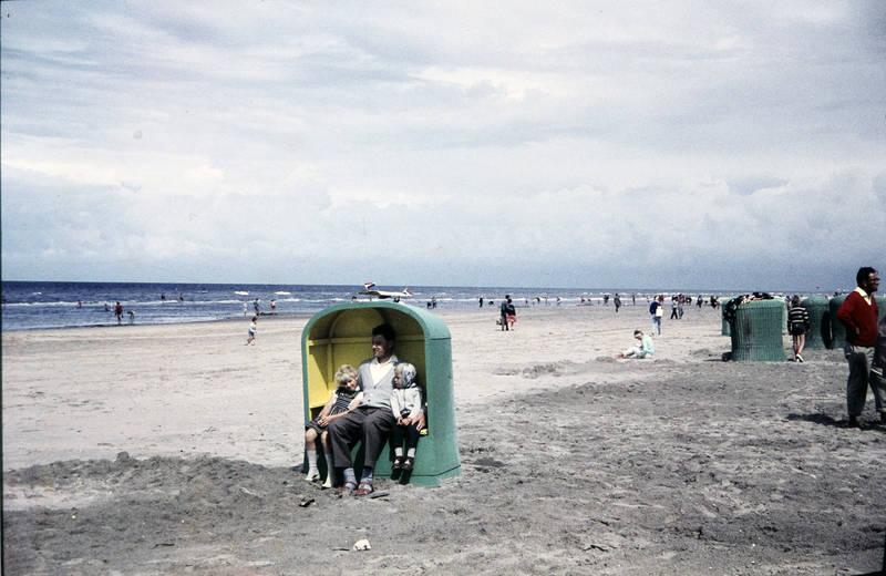 Kindheit, sand, Strandkorb, urlaub