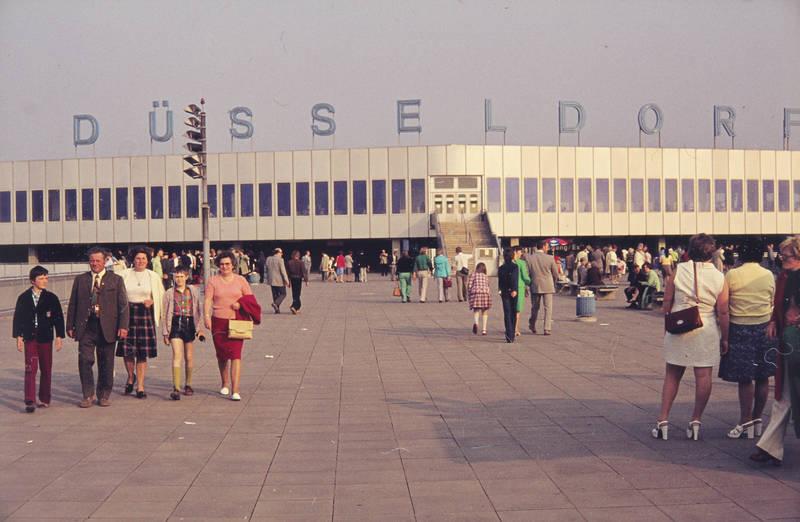 ausflug, Aussichtsplattform, Besucherterrasse, Düsseldorf, Flughafen