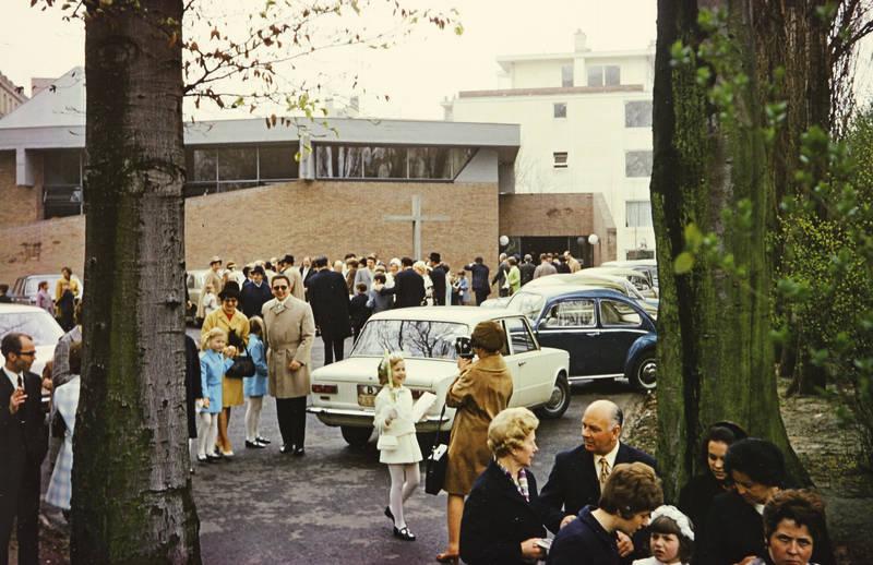 anzug, auto, gottesdienst, KFZ, kirche, Kommunion, mantel, PKW, VW-Käfer