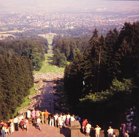 Aussicht, Bad Wilhelmshöhe, Brunnen, Kassel, Schloss, Treppe
